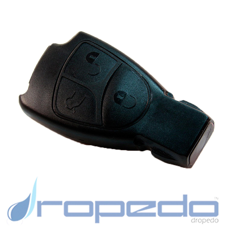 Autoschlüsselgehäuse für Mercedes Benz schwarz 3 Tasten