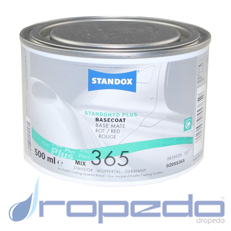 Standox Standohyd PLUS Basislack MIX 365 Rot 0,5 L Dose